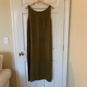 Eileen Fisher Linen olive Dress